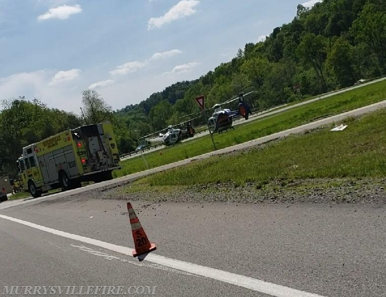 LZ OPS for Auto Accident on PA Route 366 - Murrysville