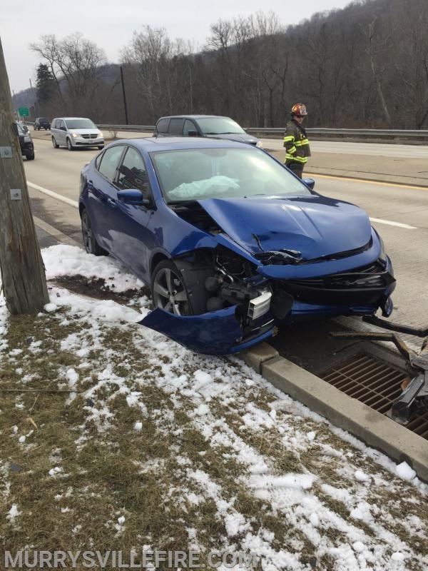 Single Vehicle Auto Accident - William Penn Highway - Murrysville